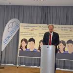 Begrüßung durch Bürgermeister Volker Miesseler bei der Ausbildungsbörse